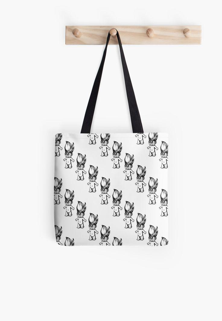 Troll Pattern (Diagonal) Tote Bag by Elle Fennah