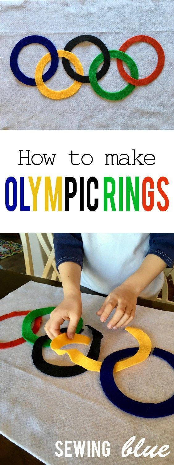 Olympic Rings Craft + How to Cut the Perfect Circle by Sewing Blue