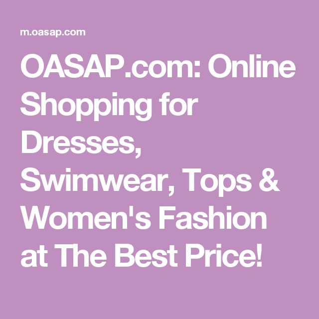 OASAP.com: Online Shopping for Dresses, Swimwear, Tops & Women's Fashion at The Best Price!