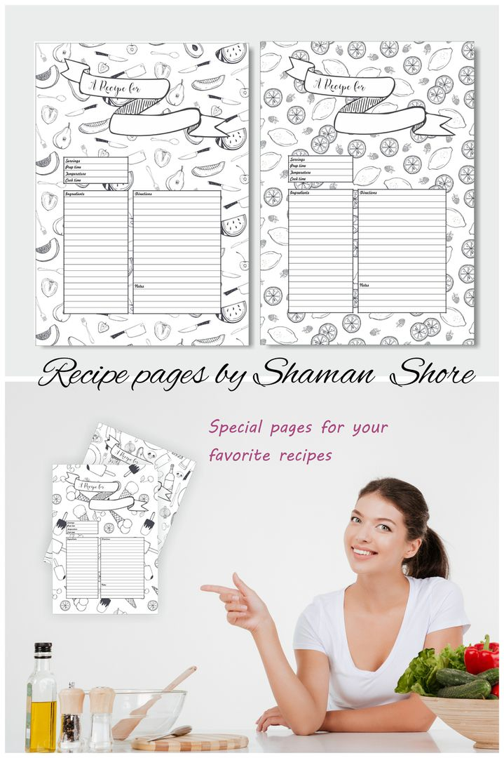 25 best ideas about recipe templates on pinterest clean book