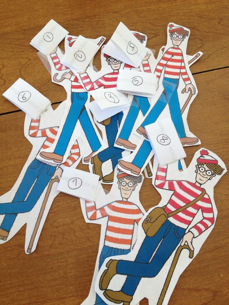 Waldo Party Games - Find a Waldo and get a new clue scavenger hunt game idea - Musings of a Marfan Mom