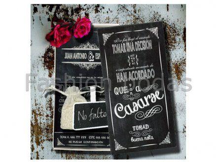 Invitación de boda - CAJA PIZARRA  E700-630