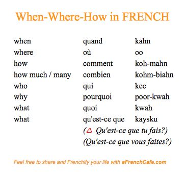 French, French and un petit peu plus de #French:  When-Where-How (les adverbes d'interrogation) (http://www.efrenchcafe.com/french-learning/li)