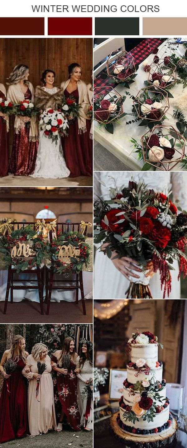 Top 9 Winter Wedding Color Palette Ideas For 2020 Winter Wedding