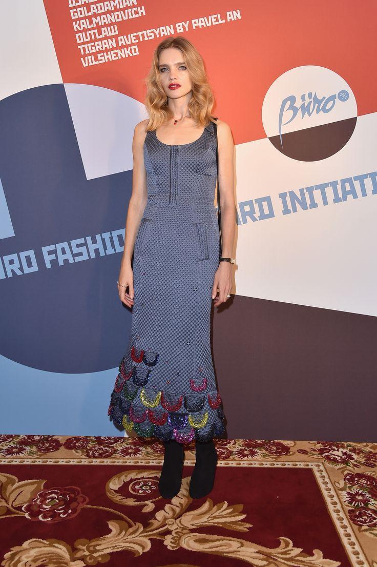 Natalia Vodianova wearing Ulyana Sergeenko Couture dress