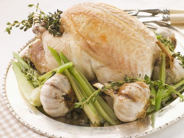 Запеченная курица в духовке с чесноком