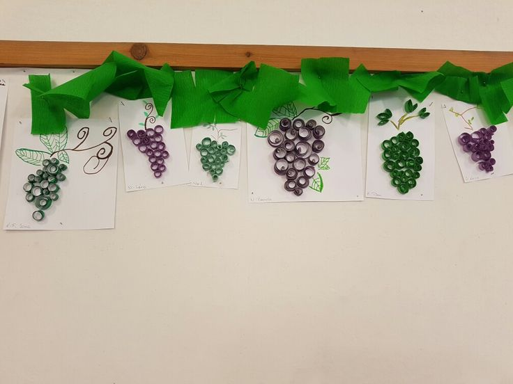 Quilling szőlőfürtök