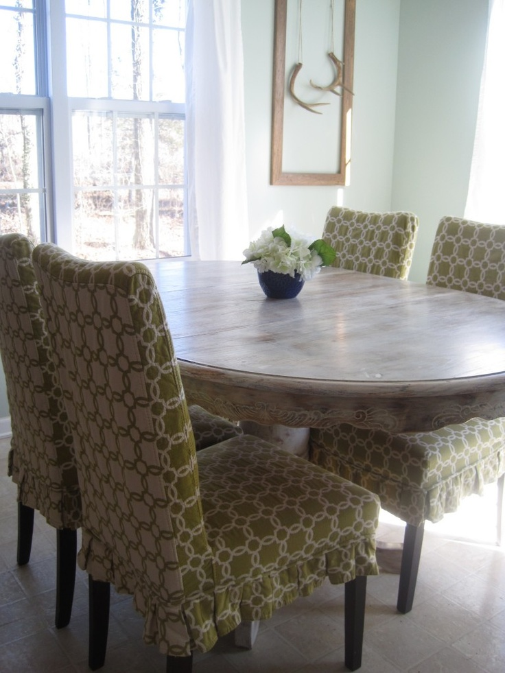 Find This Pin And More On Chairs Pier 1 Green Geometric Dana Slipcovers For Dining Room
