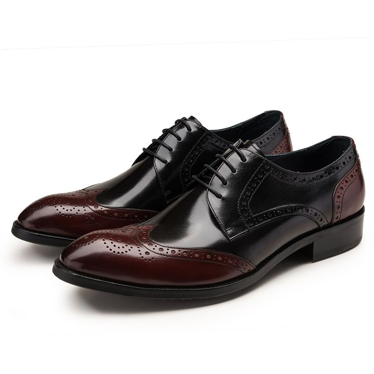 >> Click to Buy << Bordeaux color Oxfords shoes mens business shoes genuine leather pointed toe dress shoes mens wedding shoes #Affiliate