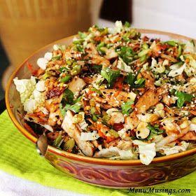 Grilled ginger-chicken salad http://menumusings.blogspot.com/ #salads #chicken