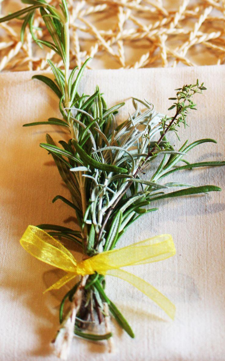 segnaposto di erbe aromatiche
