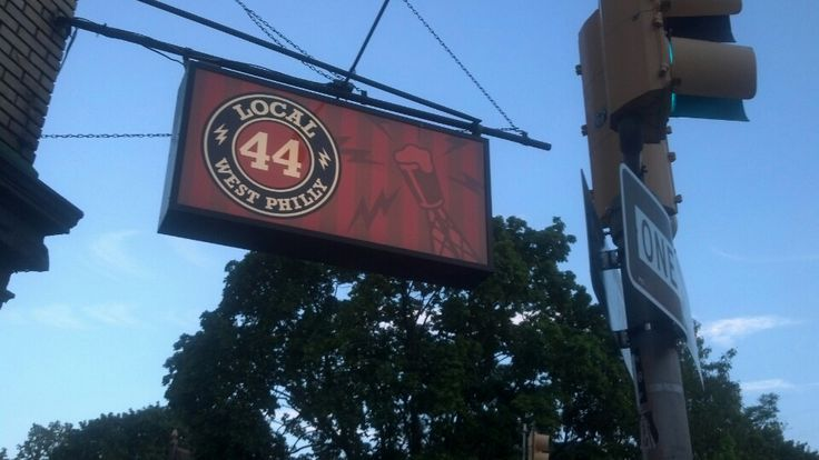Local 44 at 43rd and Spruce in West Philly. Happy Hour: M-F, 5-7pm. Local Happy Hour ($3 local beer): Mondays, 5-7pm. Beer selection is really good. Good deals for apps, too.