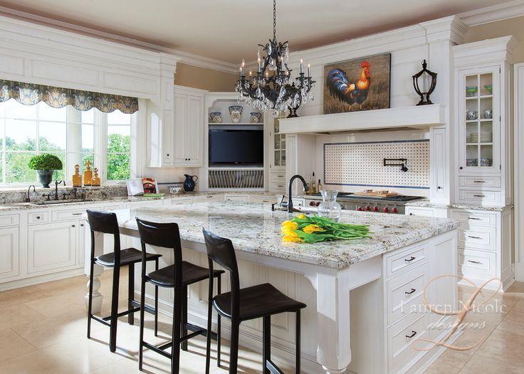 Rustic chic kitchen decor. Lauren Nicole Designs | Kitchen Interior Design Charlotte NC