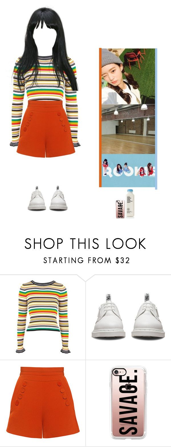 """[Ji Woo] Rookie - Red Velvet Cover"" by nae2ji-woo on Polyvore featuring moda, Topshop, Dr. Martens, Finders Keepers e Casetify"