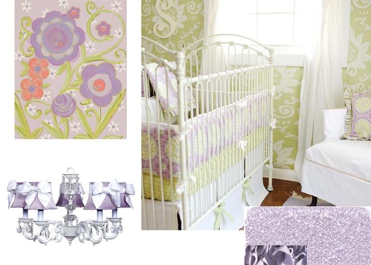 Baby Nursery Ideas   Lavender Baby Bedding