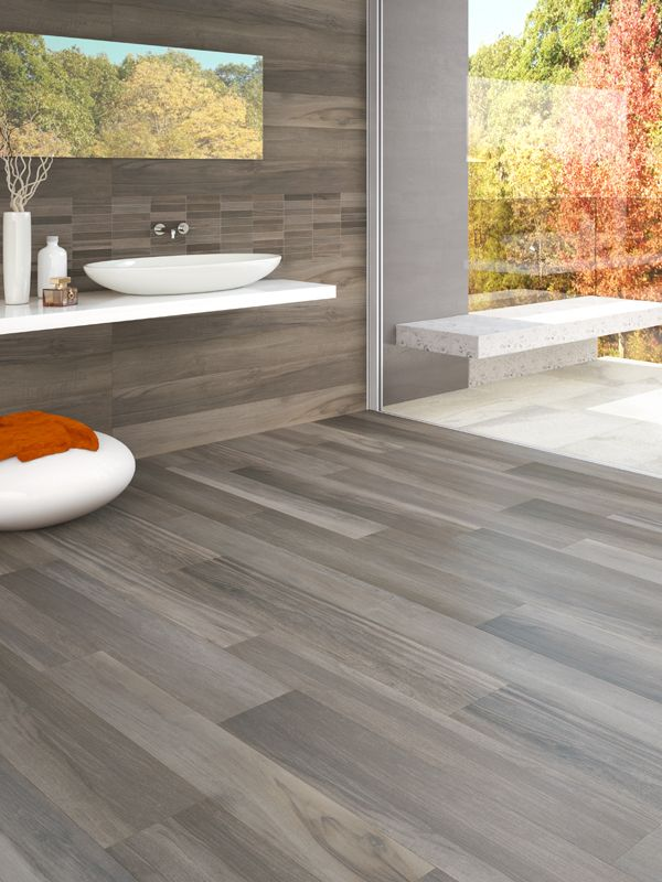 Badkamer Vloer Tavole di Legno is an ink-jet porcelain tile with surface variation and knotting typically found in wooden planks.