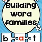 This is great activity for the students to build word families.  This is a three puzzle piece game that you can put in literacy centers for the stu...