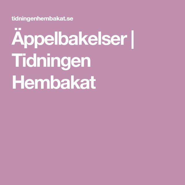 Äppelbakelser | Tidningen Hembakat