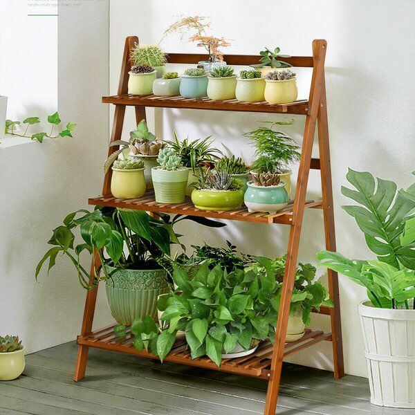 3 Tier Outdoor 38 X 28 Bamboo Flower Pot Plant Stand Bamboo
