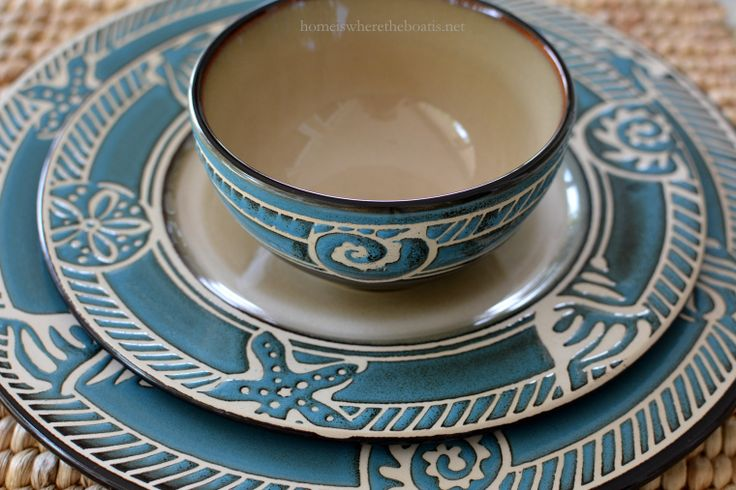 1000 Images About Coastal Tableware On Pinterest