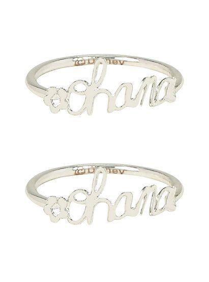 Disney Lilo & Stitch Ohana BFF Ring Set