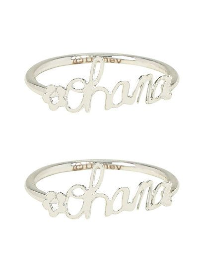 Disney Lilo & Stitch Ohana BFF Ring SetDisney Lilo & Stitch Ohana BFF Ring Set,