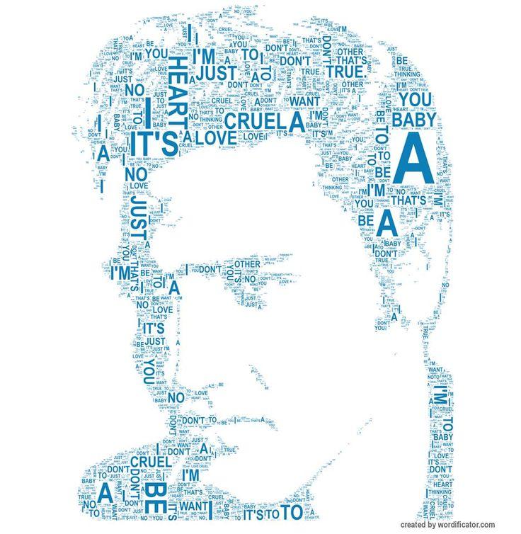 Elvis Presley Typography Art i created