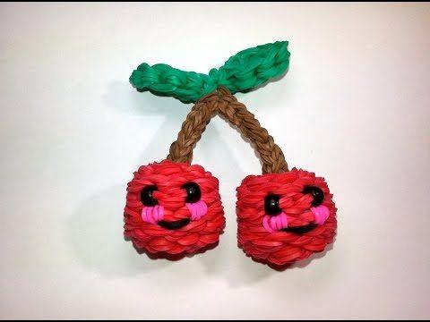 3-D Happy Cherries Tutorial (Rainbow Loom) - YouTube