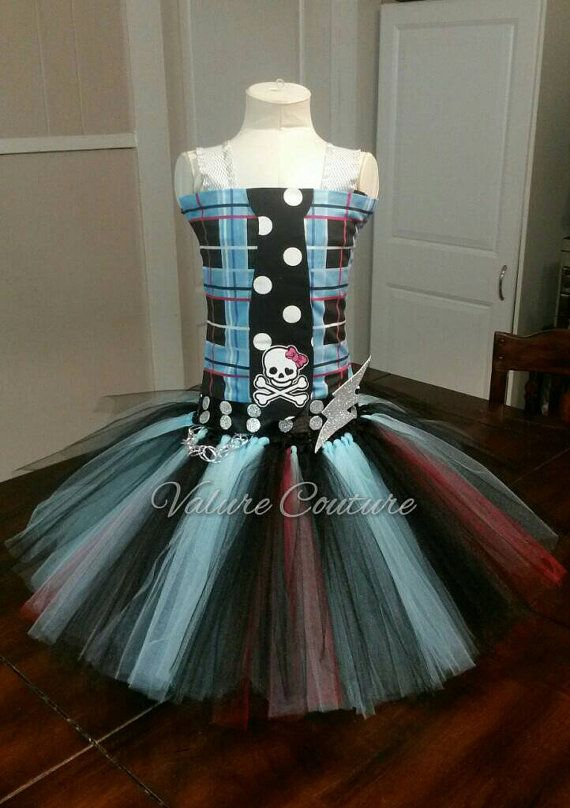 Monster High Inspired Frankie Tutu Dress by ValureCouture on Etsy