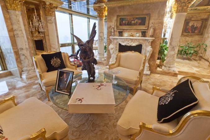 Melania Trump's Penthouse Sitting room