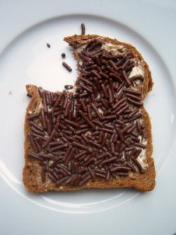 Hagelslag. Did you know that the Dutch enjoys chocolate sprinkles on bread for breakfast? There are even fruit flavoured sprinkles available.