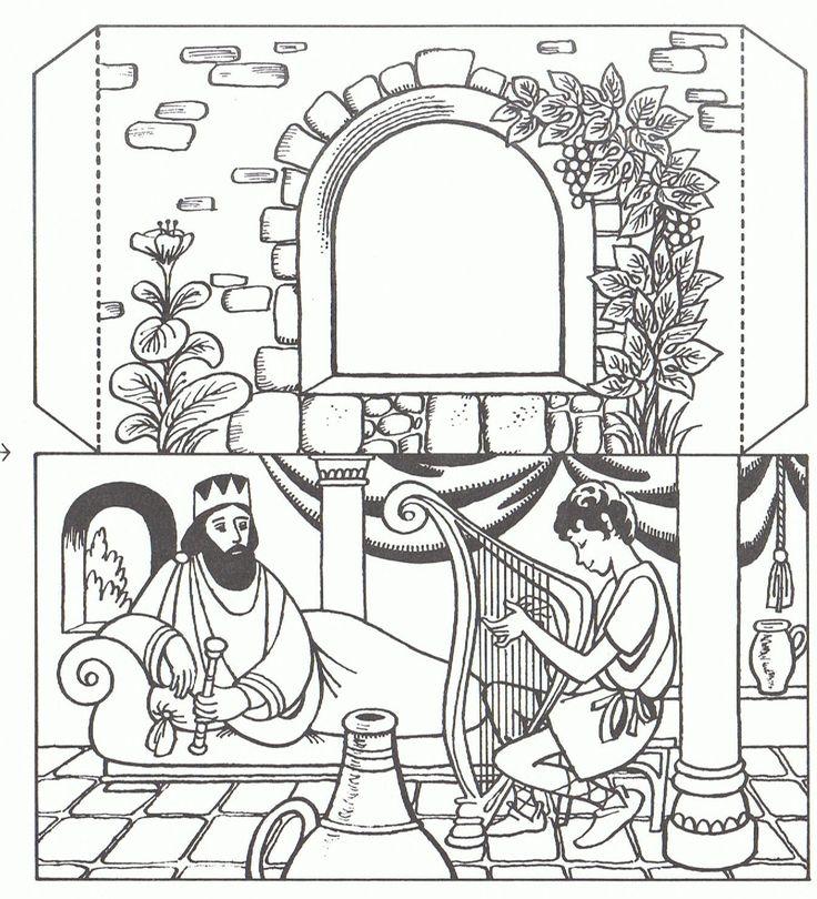 King Saul. David playing harp @ https://s-media-cache-ak0.pinimg.com/originals/1b/4e/75/1b4e75000bd173748b10618b89238410.jpg