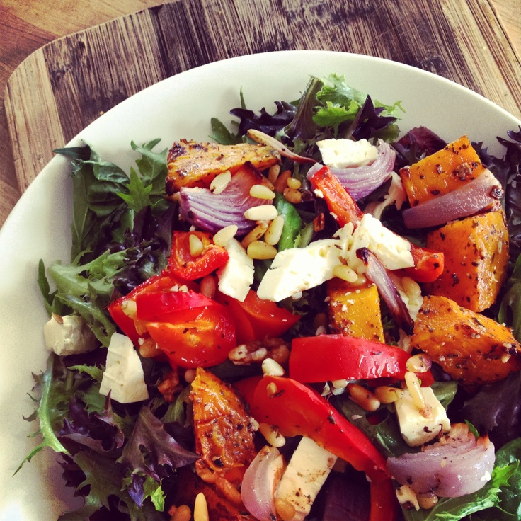 I do love my leftovers! 12wbt Roasted Pumpkin, Capsicum & Feta Salad - this will keep me going for the rest of the day!