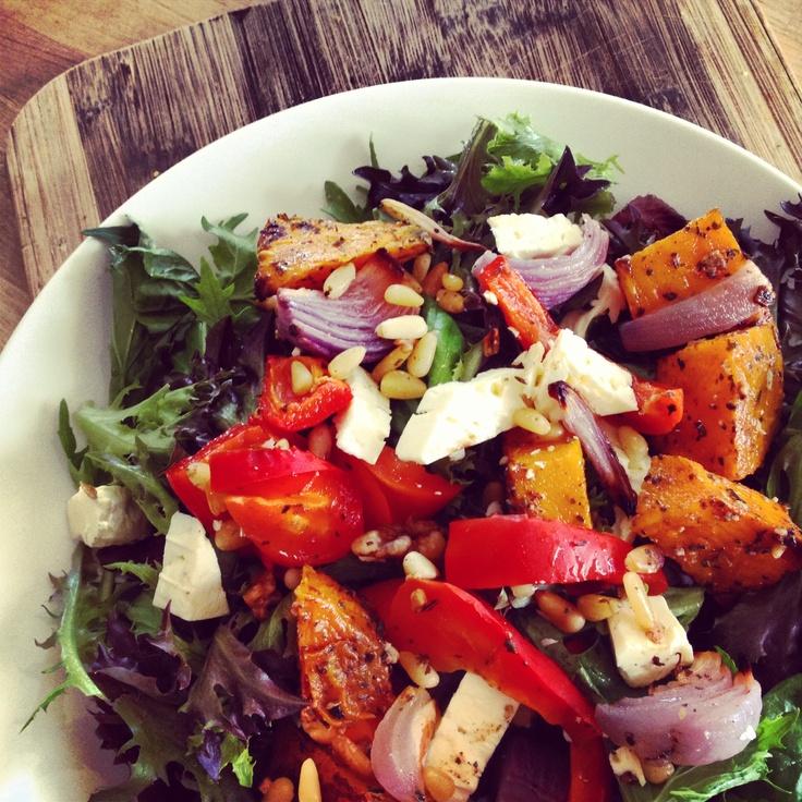 12wbt Roasted Pumpkin, Capsicum & Feta Salad