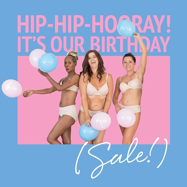 Party with us on our birthday! Head over to our website to grab a great deal on our life changing undies ( see homepage for the secret code). If you are a VIP head to your inbox soon to get your special offer! You're welcome!modibodiaustralia