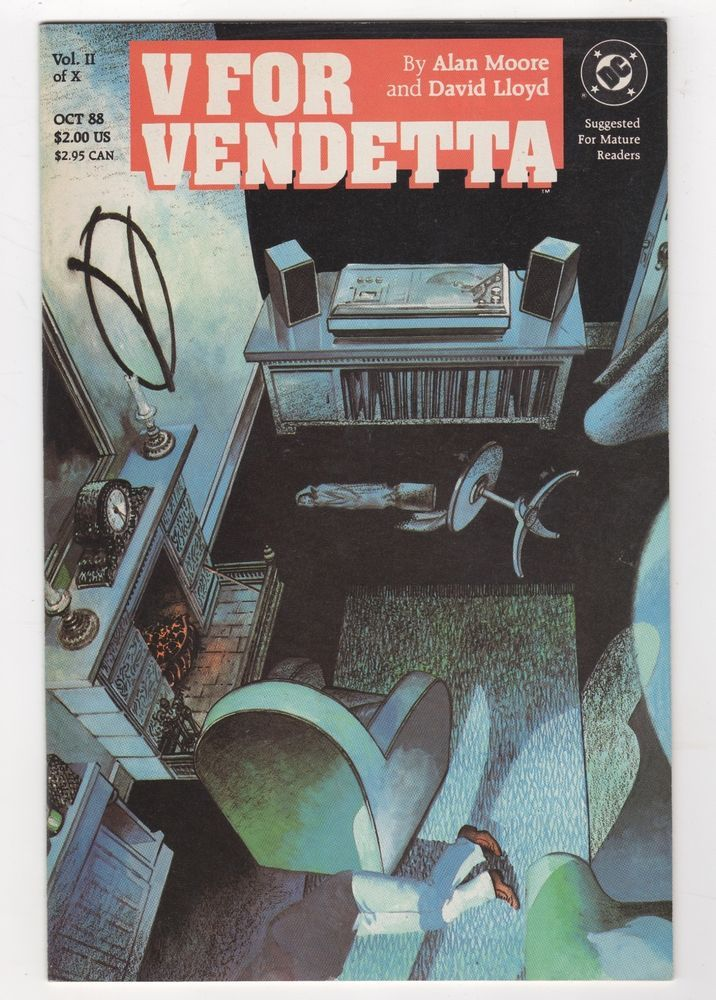 V for Vendetta 2 Alan Moore 1988 DC Comics | eBay