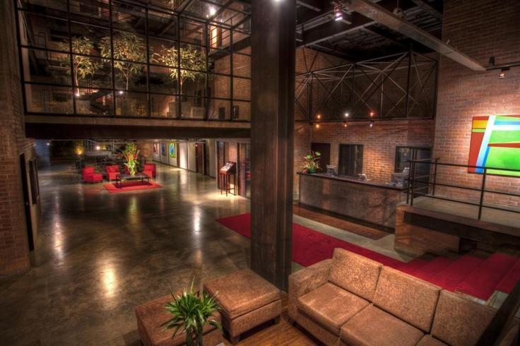 Art gallery into the medellin boutiq art hotel: Colombia.