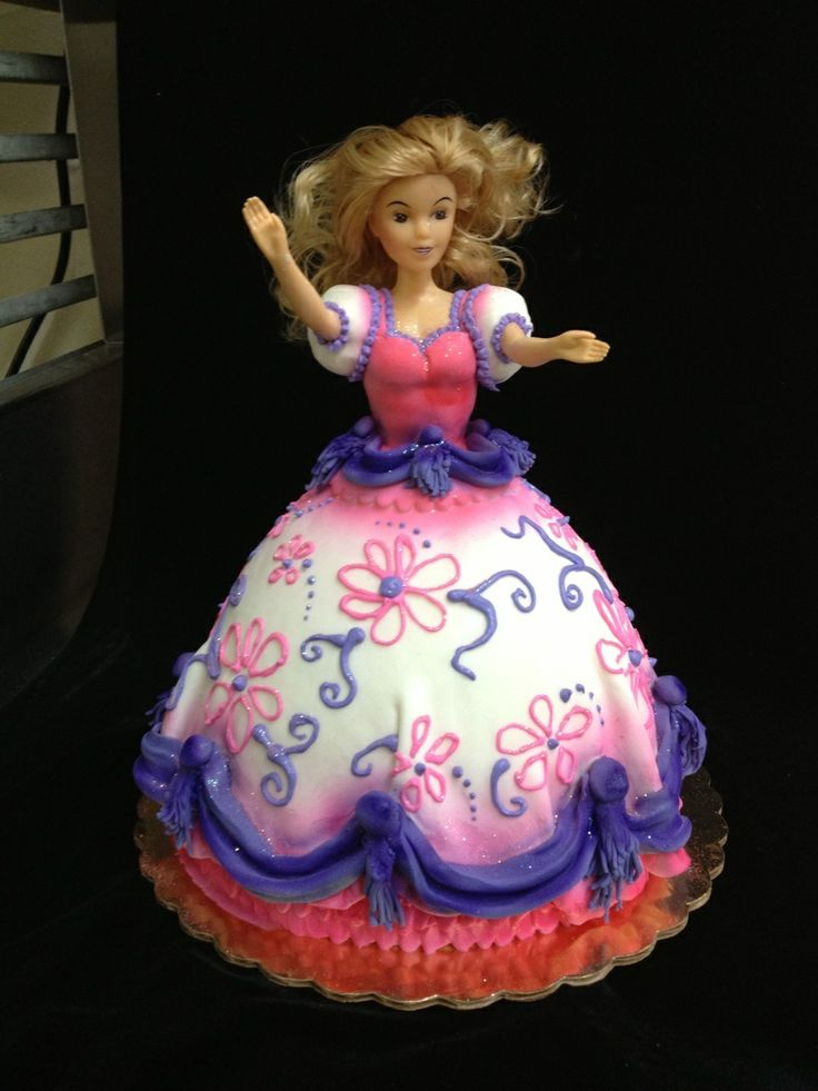Images Of Barbie Doll Birthday Cakes