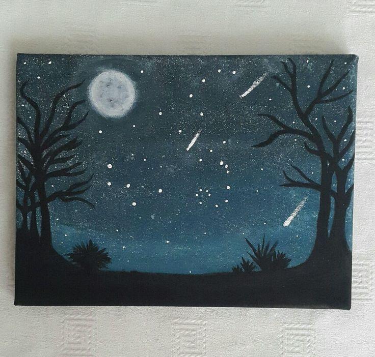 Night sky, acrylic painting