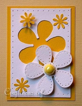 ATC Craft - Flower Power ATC with White Daisy Motif