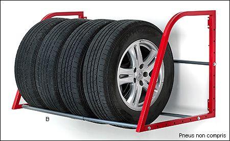 Supports muraux pour pneus Hyloft® - Jardinage