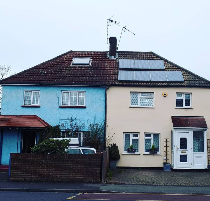 Solar panels...but where is the sun?!  #solarpanels #molesey #surrey #whereisthesun