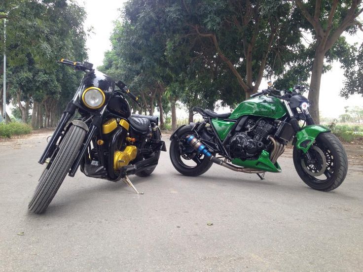 cb400 and intruder1400