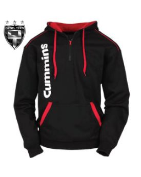 CUMMINS DIESEL QUARTER ZIP HOODY  see more at www.DieselTees.com