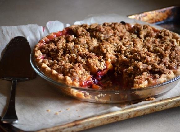 peach plum pie | Sweets and Treats | Pinterest