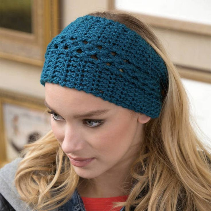 Free Pattern: Wide Vortex Headwarmer | Crochet headband free, Crochet ear warmer pattern, Crochet headband pattern