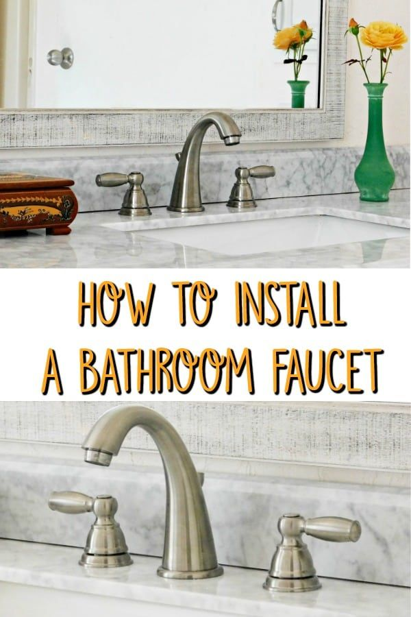 Install A Bathroom Faucet Remove And Replace Sink Faucet Bathroom Faucets Bathroom Faucets Waterfall Sink Faucets