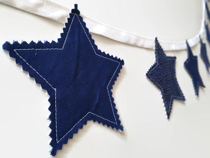 Start garland star bunting boys room decor nursery decor night sky