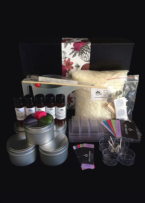 Great Mothers Day Gift Idea.  Beautiful Gift Boxed Soy Candle Making Kit! www.evokeaustralia.com.au