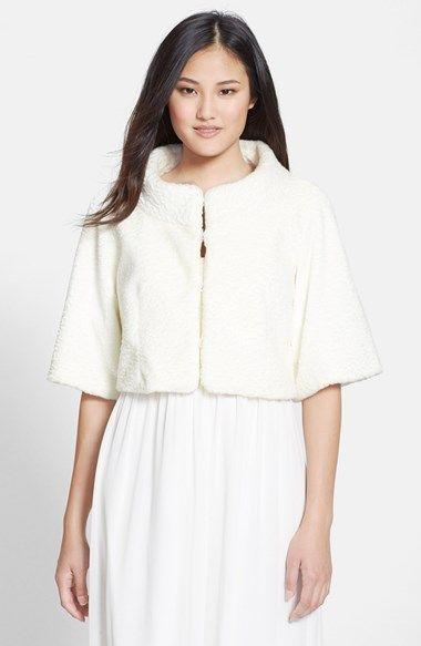 Eliza J Faux Fur Bolero available at #Nordstrom $195